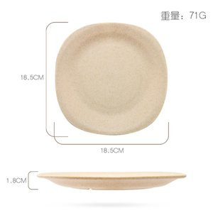 Wheat Straw Dinner Plate Originality Square Breakfast Popular Bone Plates Eco Friendly Creative Hot Selling With Blue Green Color 2 25zl J1