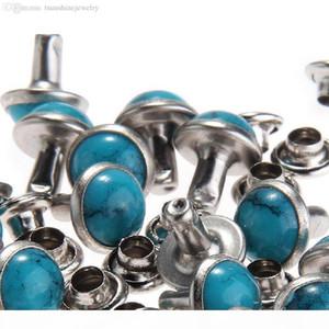 Blue Turquoise Rapid Rivets Studs DIY Leather-Craft for Bag Shoes Bracelet Tandy Leather 8MM 10MM 100pcs