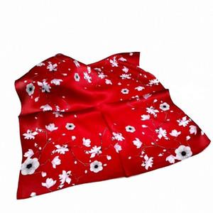 Women Fashion Female Small Square Scarf New Spring Korean Floral Silk Shawl Wrap Neck Ladys f Printing Hangzhou 53cm