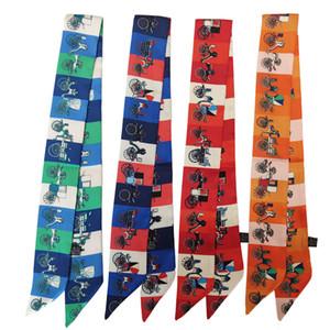 High Quality New Original Handbag Silk Scarf Bag Handles Tied Bag Ribbon Small Scarf Women Headband Wholesale 95*5cm