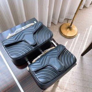 Newset Women Lady Messenger Bags Love heart V Wave Pattern Satchel Genuine Leather Shoulder Bag Chain Handbags Purse tote bags