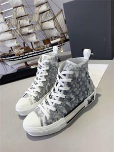 En kaliteli Yeni En Sol Sağ Günlük Ayakkabılar B23 Eğik Yüksek Womens Moda Sneakers Dior 03
