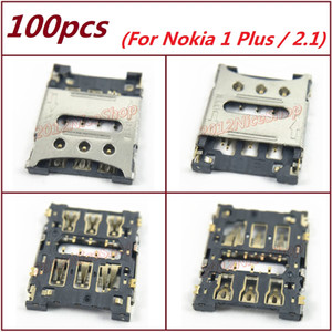 New Lot 100pcs OEM Sim Card Reader Holder Slot with Metal Cover For Nokia 1 Plus   Nokia 2.1