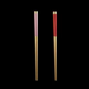 Из нержавеющей стали палочки для еды металлические Chop Sticks Tableware Silver Gold Multicolor Tableware Свадебная вечеринка Фестиваль JK2007XB 78 G2