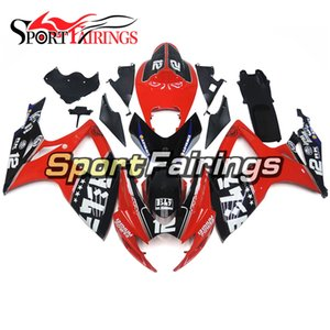 Full Bodywork For K6 GSX-R 750 06 07 Suzuki GSX-R 600 2006 2007 Complete Fairings Kit Autocycle Injection Body Kit Red Black