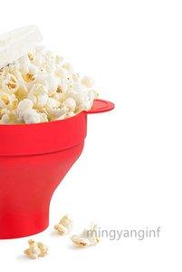 Mikrodalga Silikon Popcorn Maker, BPA Free Katlanır Sıcak Hava Microwavable Popcorn Maker Kase, Kullanım yılında Mikrodalga ya Fırın MY-inf0445