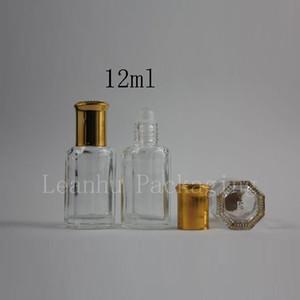 12ML anise perfume transparent bottle ball points bottling portable with aluminum cap