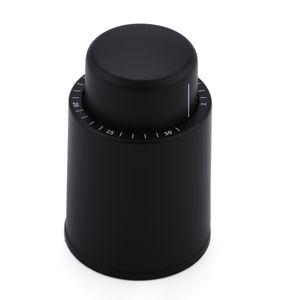 Yüksek kaliteli Vakum Bellek Siyah ABS Gümüş 304 paslanmaz Şarap Şişe Stopper Mühürlü Depolama Şarap Stopper itin Stil Şarap Mantarlar Bar Araçları