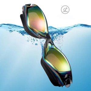 Swimming Goggles Professional Durable Silicone Swimming Goggles Anti Uv Waterproof Adult Arena Swimming Glasses Colored Bbydko Ea