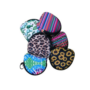Neoprene Face Masks Bags Trendy Multifunction Headset Coin Case Solid Color and Colorful Portable Facemask Change Purse Bags Totes F102201
