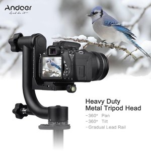 Andoer Heavy Duty Metal Panoramic Gimbal Tripod Head Use for Arca-Swiss Standard Quick Release Plate Aluminum Alloy for DSLR