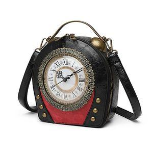 Hot Sale Purse ItemFashion Bag Clock Crossbody Messenger Clutch Novelty Women Phone Bag Shape Cool Gift Vintage Bags Wbcat