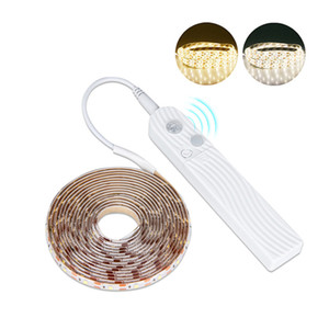 2M 60LED Strip Light Motion Sensor LED Strip Light 1.5V 3000K Ribbon Tape Brighter SMD3528 Strip Light