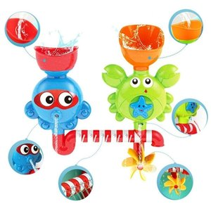 Waterfall Water Station Bath Toy - Bathtub Toy with Two Stackable Cups Fountain Water Shower Toy for Children Kids 200928