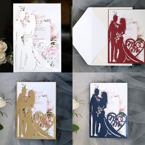Wedding Invitation Cards Creative New Style Valentine Day Greeting Card Hollowing Out Diamonds Invitations Factory Direct Selling 1 5dd p1