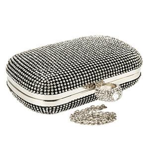 Más nuevos bolsos de embrague de diamantes con Carteras Bolso de noche para la boda Q1113 de las mujeres de hombro de la cadena