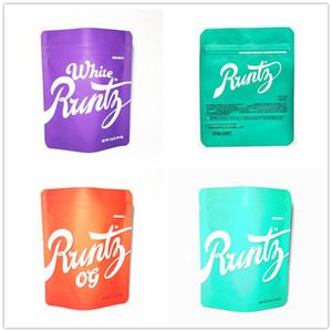 3 Types Runtz plastic bag 3 5g mylar bags COOKIES California SF og White Runty Touch Skin package zipper mylar smell proof bags