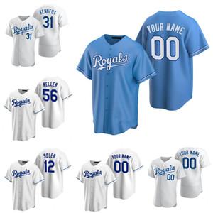 Royals personalizados Jorge Soler Kansas 20 21 City Jersey Whit Merrifield Hunter Dozier Jackson Pérez Nicky Lopez Ryan Ian Kennedy Baseball Jersey