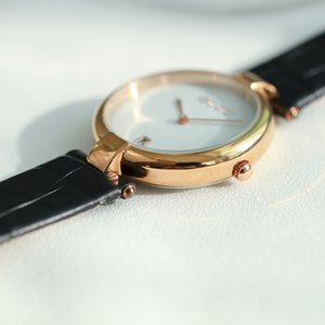 Hong Kong Guou la correa del reloj para mujer simple reloj mujeres de la manera japonesa con el calendario y sin cinturón Escala
