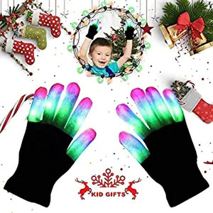 Illuminazione a LED Mittens Guanti luminosi LED bambini Finger Gloves Barretta infiammante chiara rifornimenti del partito dei capretti Giocattolo dei bambini LED
