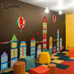 Diy Big Castle Home Decor Wall Stickers for Kids Rooms Children's Bedroom Sticker Mural Art Kindergarten Decoration Child Gift 1007