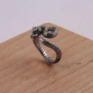 Hand verzierte Punk Cobra Ring für Männer