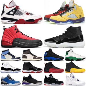 air jordan retro Chaussures de basket-ball pour hommes jumpman 12s Reverse Flu Game 11s 25e anniversaire 13s Hyper Royal 5s What The 4s Fire Red hommes femmes baskets