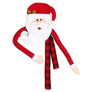Home Christmas Tree Decorations Top Ornaments Santa Claus Elk Kids Snowman Cartoon Gift Hanging Festival Garden DIY Cute