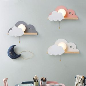 Nordic Macaron LED Glass Wall Lamps Beside Bedroom Light Fixtures Modern Children Room Cloud Wall Lamp Stairs Light Sconces