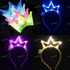 2020Child Adult LED Glow Light Tiara Crown Head Wear Royal Princess Headband Flashing Party Birthday Christmas Headwear