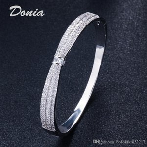 Donia jewelry two color electroplate exaggerated micro inlay zircon animal Adjustable Bracelet personalized geometric design gift