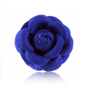 5Pieces Bag Wedding Groom Groomsman Boutonniere Flower Wedding Party Prom Suit Corsage Size 8CM Camellia Bud Brooch Flowers