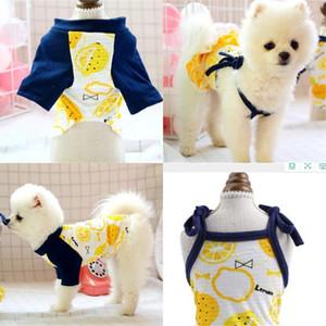 Güzel Pet Etek Sarı Limon Köpek Giyim Tişörtleri Hayvanlar Giysi Özgünlük Elbise Smock Yürüyüş Küçük Köpekler Giyen Evcil Hayvan Malzemeleri 15JQ F2