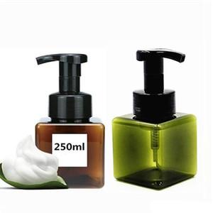 250 ml / 8,5 oz en plastique Moussant Bouteille Distributeur de savon Bouteille vide Bouteille Portable Rechargeables savon pour les mains Moussant Distributeur IIA768