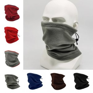Maschera Polar Fleece DHL Copricapo fascia Warmer antivento inverno addensare Buff Cold Weather Face per Uomo Donna AHA1903