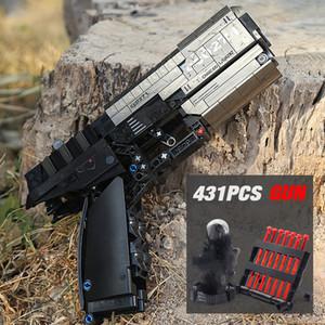 Sempbo 704301 Technic Shooting Signal Signal Pistol Pistolet peut tirer des balles Blocs de construction Bricks Jouets pour enfants Cadeaux
