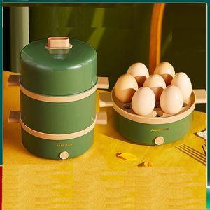 220V 2 Layers Egg elétrica Steamer automática multifuncional Caldeira Pequeno-almoço Criador Cozinhar Cozinhar Máquina multi fogão