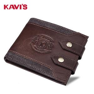 Kavis / Short Homme de Kavi Wallet Multi Function Double Boucle personnalisée Mode cuir zéro bourse