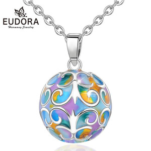 Eudora Sweet Macaron cake Color Harmony ball necklace Music Mexican Ball Maternity Jewelry Elegant Pendant for Newborn baby mom
