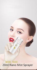 2021 Hot 20ml Nano Mist Sprayer Portable Mini Handheld Summer Moisturing Facial Steamer Face Steamer Humidifier Mist Spray Beauty Skin Care