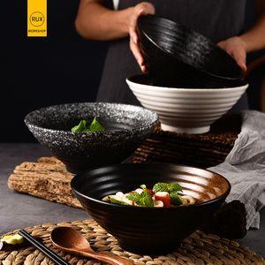 RHE 1000 ml, 1500 ml bol en céramique japonaise bol de nouilles Grand bol de riz capacité décoration vaisselle ménages C1108