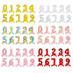 50 pcs aluminum film balloon creative new 40 inch standing with seat letter A-Z number 0-9 independent packaging