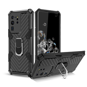 Armor Shockproof PC Phone Case for Samsung S20 Plus Note 20 Ultra A11 A21 A41 A51 A71 Magnetic Car Holder TPU Anti-Drop Cover