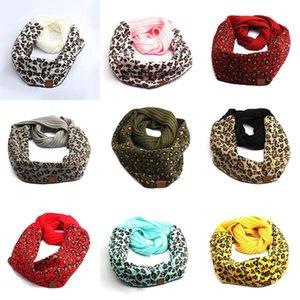 Designer scarf 9 Style leopard print scarf winter wool warm knitted scarfs with logo C scarf XD23988