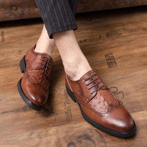 business Dress Shoes Men Leather Vintage Retro Custom Blake Handmade Office Fashion Formal Wedding Party Oxford Shoes men