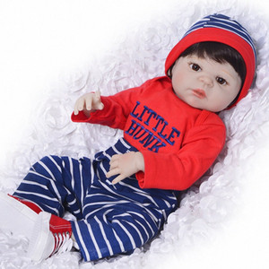 "Reborn boy dolls Full silicone reborn boy baby dolls 23""57cm real alive newborn babies bjd doll bebe gift boneca 6Jzx#"
