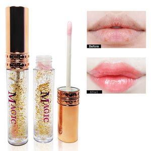 Instant Volumising Lip Plumper Lip Plumping Gloss Moisturizer Repair Lip Extreme Volume Gold Leaf Essence Lips Cosmetics 0230