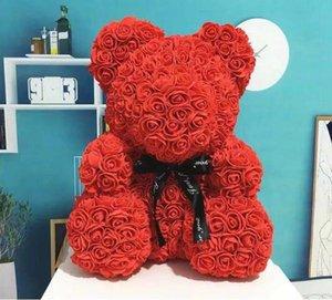 En Popüler Düğün Parti Dekorasyon Çiçekler Tatil Noel Süslemeleri 25 cm Gül Teddy Bear Parti Dekorasyon