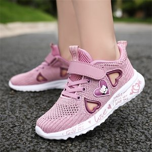 Girls Shoes Kids Sneakers for little Girl and Children Shoes Summer breathable sport and running shoes pink purple 201223