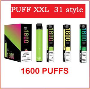 Puff XXL descartável Vape Pen 31 Estilo 1600 Puff Pré Cheio PODs Vape Cartucho Puff Barras E Cigarro Vs Air Bar